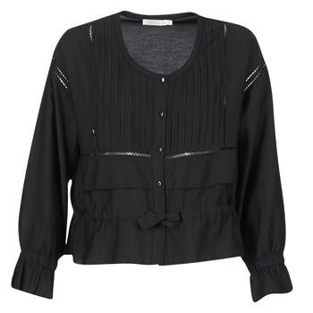 Kleidung Damen Tops / Blusen See U Soon 7113001 Schwarz