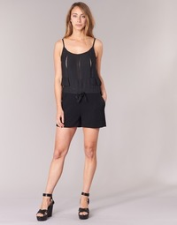 Kleidung Damen Overalls / Latzhosen See U Soon 7191003 Schwarz