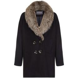 Kleidung Damen Daunenjacken Anastasia Wintergürtel mit Gürtel für Damen Black