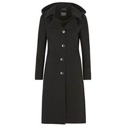 Kleidung Damen Daunenjacken De La Creme Kaschmir-Wintermantel Black
