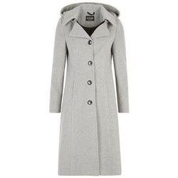 Kleidung Damen Daunenjacken De La Creme Kaschmir-Wintermantel Grey