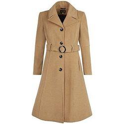 Kleidung Damen Mäntel De La Creme Laine Wolle Cachmeier Mantel Beige