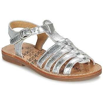 Schuhe Mädchen Sandalen / Sandaletten Babybotte YLONA Silbern