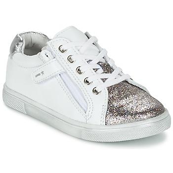 Schuhe Jungen Sneaker Low Babybotte KRAZY Weiss / Silbern