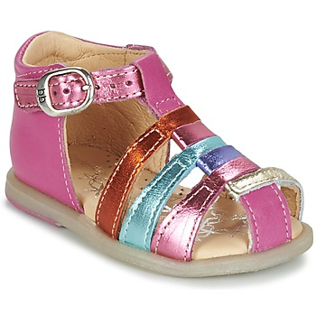 Schuhe Mädchen Ballerinas Babybotte TIKALOU Rose / Multifarben