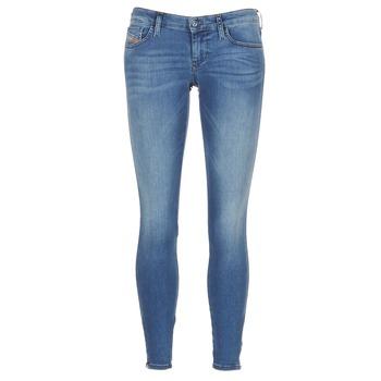 Kleidung Damen Röhrenjeans Diesel SKINZEE LOW ZIP Blau