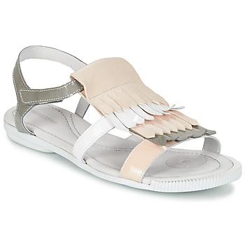 Schuhe Damen Sandalen / Sandaletten Pataugas CANDY/V F2C Weiss / Grau / Rose