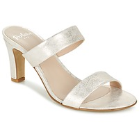 Schuhe Damen Pantoffel Perlato ADINILE Silbern