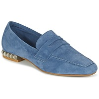 Schuhe Damen Slipper Perlato KAMINA Blau