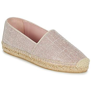 Schuhe Damen Leinen-Pantoletten mit gefloch Pretty Ballerinas GALASSIA Rose