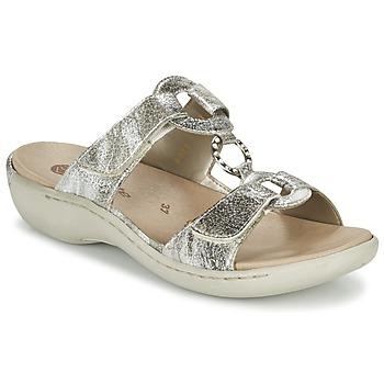 Schuhe Damen Pantoffel Remonte Dorndorf TARDESSO Silbern