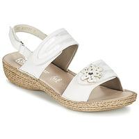 Schuhe Damen Sandalen / Sandaletten Rieker MIOLOI Weiss