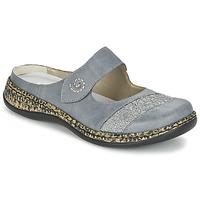 Schuhe Damen Pantoffel Rieker GRILOPI Blau / Grau