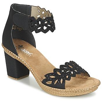 Schuhe Damen Sandalen / Sandaletten Rieker POTIRASSE Schwarz