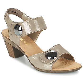 Schuhe Damen Sandalen / Sandaletten Rieker GERITEDO Grau
