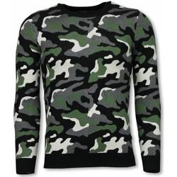 Kleidung Herren Sweatshirts Justing Military Camouflage Motiv Grün