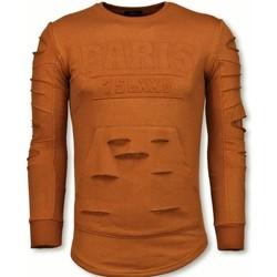 Kleidung Herren Sweatshirts Justing D Stamp PARIS Damaged OrangeBrown Orange