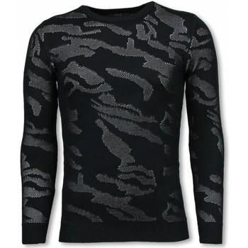 Kleidung Herren Pullover Justing D Military Neon Motiv Schwarz