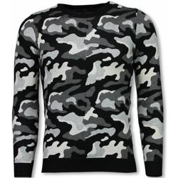 Kleidung Herren Sweatshirts Justing Military Camouflage Motiv Schwarz