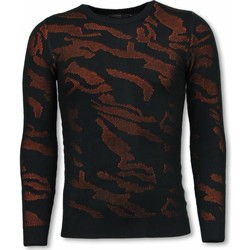 Kleidung Sweatshirts Justing D Military Neon Motiv Orange Schwarz, Orange