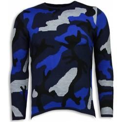 Kleidung Herren Sweatshirts Justing Dazzle Farbe Camouflage Long Blau