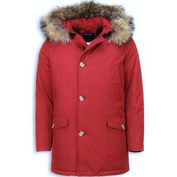 Kleidung Herren Parkas Enos Jacken Mit Fellkragen Winterjacken  Große Rot