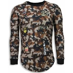 Kleidung Herren Sweatshirts Justing th US Army Camouflage Long Braun