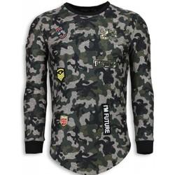 Kleidung Herren Sweatshirts Justing th US Army Camouflage Long Grün