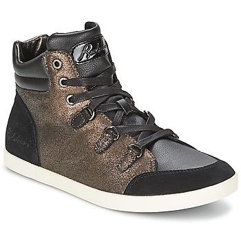 Schuhe Damen Sneaker High Redskins CADIX Schwarz / Bronze