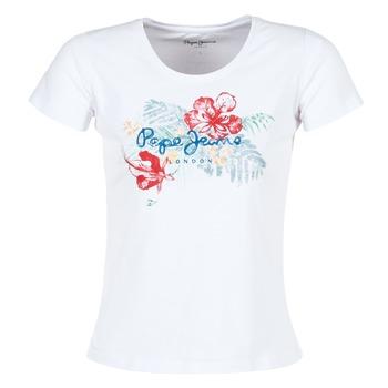 Kleidung Damen T-Shirts Pepe jeans AMBER Weiss