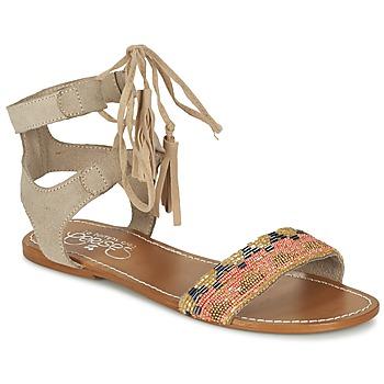 Schuhe Damen Sandalen / Sandaletten Le Temps des Cerises KAMPUR Beige