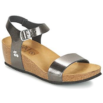 Schuhe Damen Sandalen / Sandaletten Le Temps des Cerises ASTRID Grau