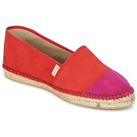 Schuhe Damen Leinen-Pantoletten mit gefloch Pare Gabia VP PREMIUM Rot / Rose