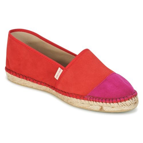 Pare Gabia VP PREMIUM Rot / Rose  Schuhe Leinen-Pantoletten mit gefloch Damen 55,19