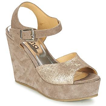 Schuhe Damen Sandalen / Sandaletten Myma RAPHIA Maulwurf