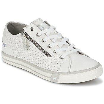 Schuhe Damen Sneaker Low Mustang RADU Weiss