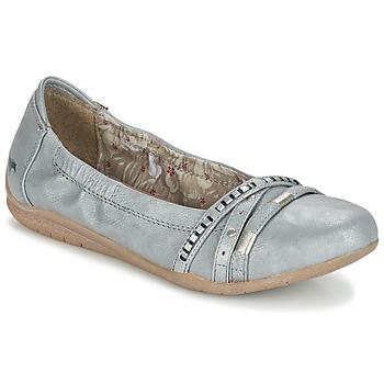 Schuhe Damen Ballerinas Mustang CRICA Grau