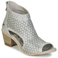 Schuhe Damen Low Boots Mustang CRAIDOU Silbern