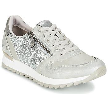Schuhe Damen Sneaker Low Mustang VENFIN Silbern