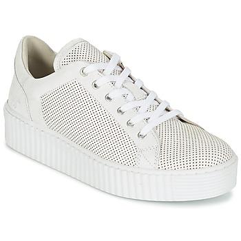 Schuhe Damen Sneaker Low Mustang FAMO Weiss