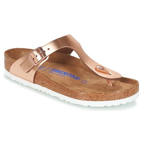 Schuhe Damen Zehensandalen Birkenstock GIZEH SFB Bronze