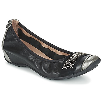 Schuhe Damen Ballerinas Mam'Zelle FADILA Schwarz / Silbern