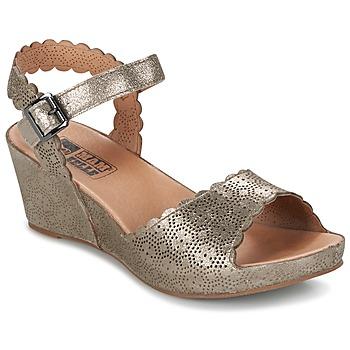 Schuhe Damen Sandalen / Sandaletten Mam'Zelle DOUGA Silbern