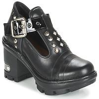Schuhe Damen Ankle Boots New Rock DEZDO Schwarz