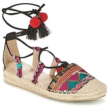 Schuhe Damen Leinen-Pantoletten mit gefloch Coolway BAMBURI Multicolor