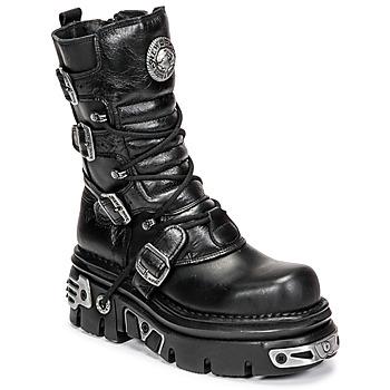 Schuhe Damen Boots New Rock NEMESIS Schwarz