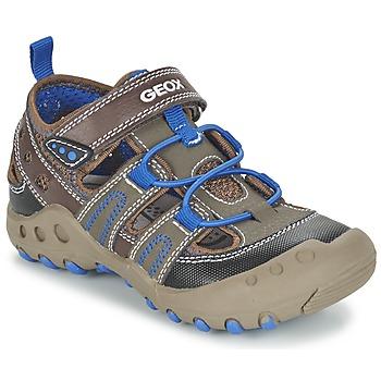 Schuhe Mädchen Sandalen / Sandaletten Geox J SAND.KYLE A Braun