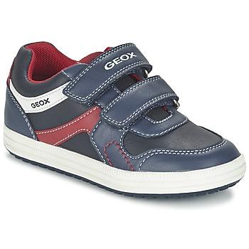 Schuhe Jungen Sneaker Low Geox J VITA A Marine / Rot