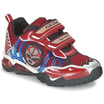 Schuhe Jungen Sneaker Low Geox J SHUTTLE B. B Rot