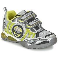Schuhe Jungen Sneaker Low Geox J SHUTTLE B. B Grau / Zitrone
